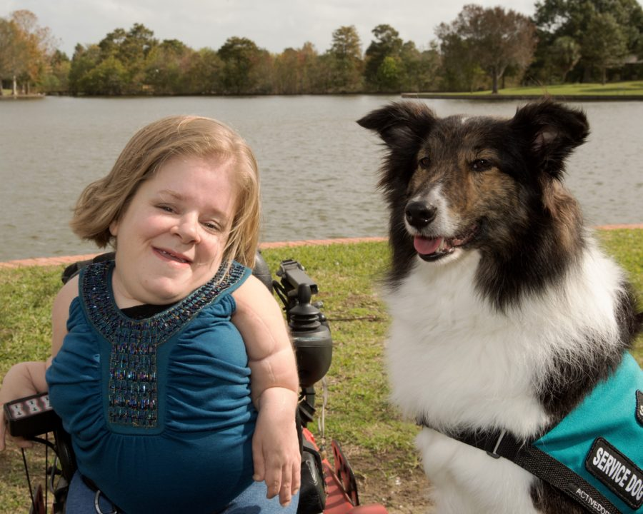 Lexie, Katherine's Service Dog